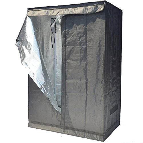 """51m6Mouf98L - Grow Tent Indoor Not Include LED - Reflective Mylar Hydroponic/Hydro Waterproof Seedling Plant Growing Room for Grow Tents, Black 48""""x32""""x70"""""""