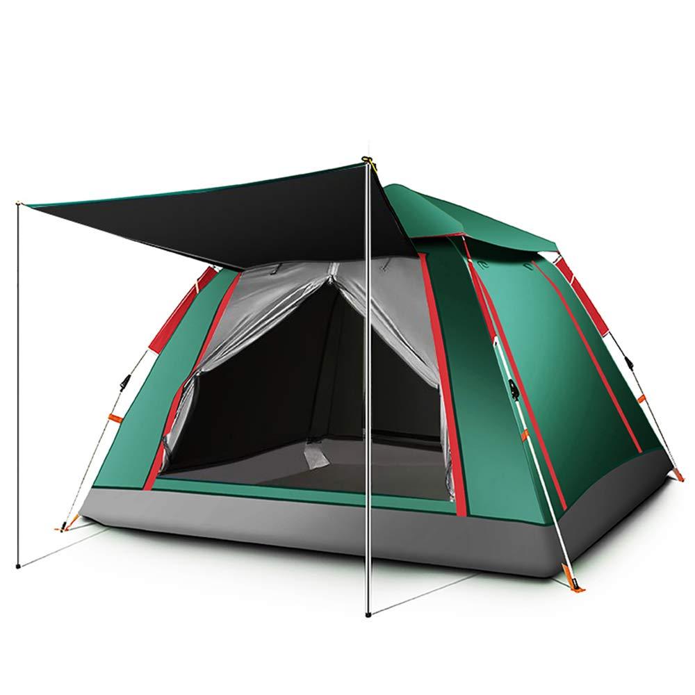 Wurfzelte,Outdoor-Zelt, 3-4 Personen automatische super große Geschwindigkeit öffnen Klappzelt (240cm  240cm  154cm) Camping Zelt, Camping & Outdoor, Sport und Freizeit (Grün)