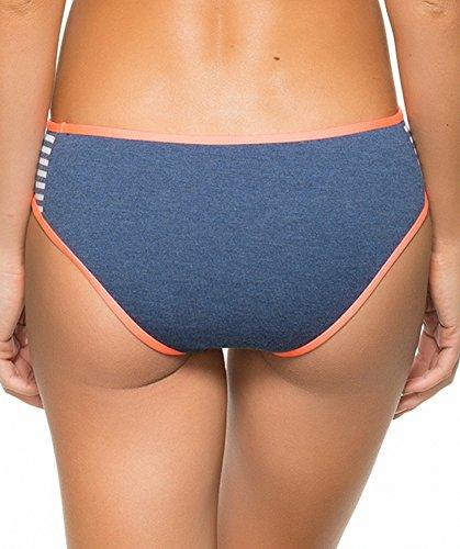 Splendid Women's Sporty Blues Brief Bikini Bottom, Navy, Small