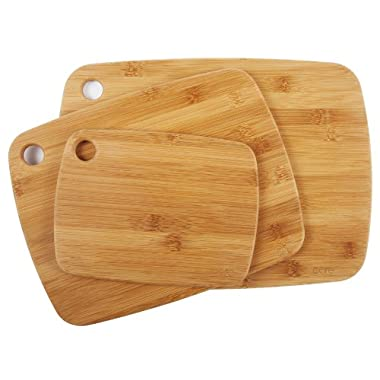 Core Bamboo 10488AM Amazon Exclusive Bamboo Cutting Board Set, 3-Piece
