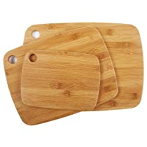 Core Bamboo 10488AM Amazon Exclusive Bamboo Cutting Board Set 3-Piece