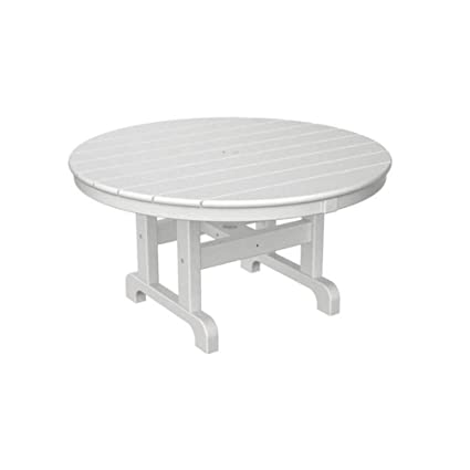Phenomenal Amazon Com Polywood Round Conversation Table In White 36 Download Free Architecture Designs Lectubocepmadebymaigaardcom