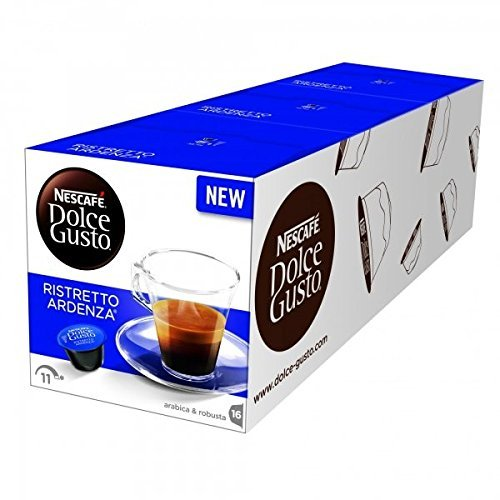 Nescafé Dolce Gusto Espresso Ristretto Ardenza, 3 Pack, Strong, 3 x 16 Coffee Capsules, 48 Servings Combined Review