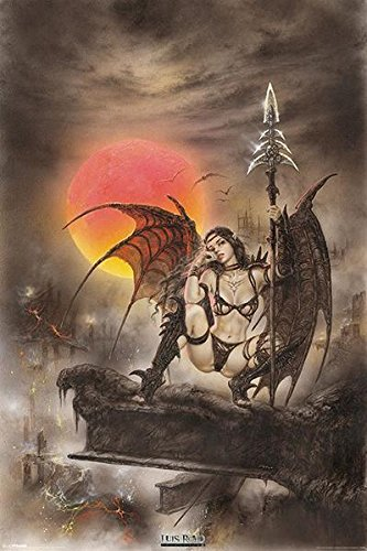 Luis Royo-Black Tinkerbell, Art Poster Print, 24 by 36-Inch - Luis Royo Tinkerbell Poster