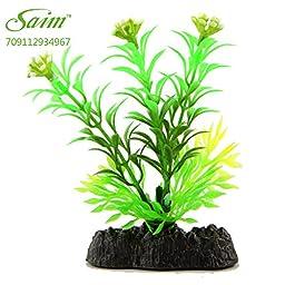 Saim Glow in the Dark Artificial Plant for Fish Tank, Decorative Aquarium Ornament, 8 Pcs