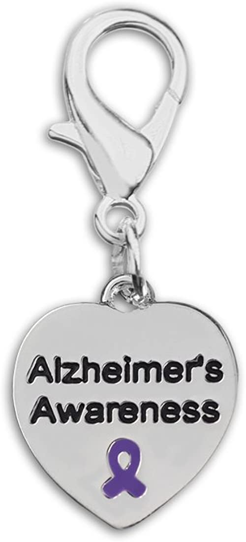 RE-HC-29-4AL Retail Alzheimer/'s Purple Ribbon Hanging Charms