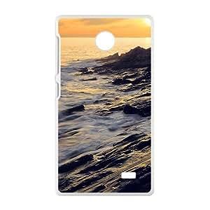 Elegant White Flowers White Phone Case for Nokia Lumia X