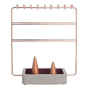 MWJK® Expositor de Pendientes Collares Pulseras Soporte para joyería Soporte de joyería Soporte de Cadena