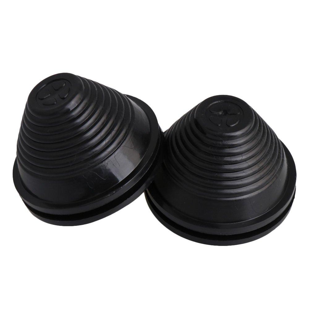 30mm Nut Durchmesser Schwarz Turm Form Gummi Verdrahtungs Draht Dichtungen Kabelschutz Ring Heimwerker Packung von 20 st/ück