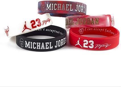 Lorhs store Basketball Stern Unterschrift doppelte Farbe Fans Armb/änder Sport absorbieren Schwei/ß Silikon Armband 4 St/ück