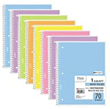 Mead Spiral Notebook 1-Subject Wide Ruled, Pastel Color, COLOR WILL VARY (Pack of 8)