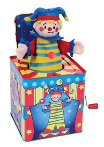 Silly Circus Clown JACK IN THE BOX Musical Classic Toy Pop Goes The Weasel by ()