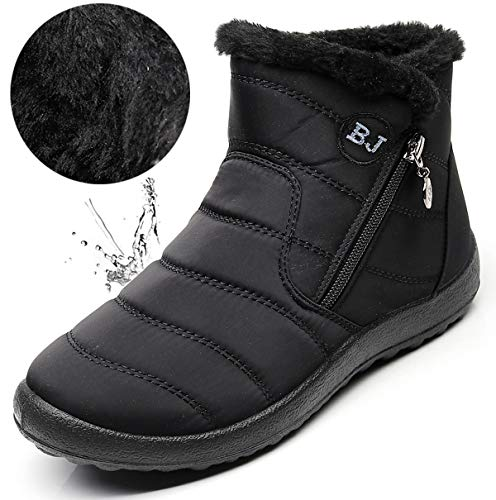 Boots Women's Snow B Winter black LINGTOM qEYaw
