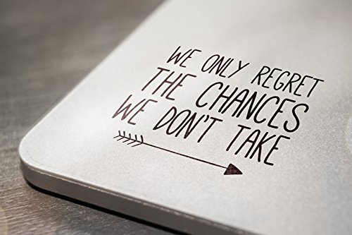 We Only Regret the Chances We Don't Take Laptop Tablet Notebook Car Vinyl Decal Sticker - Black best motivational laptop stickers