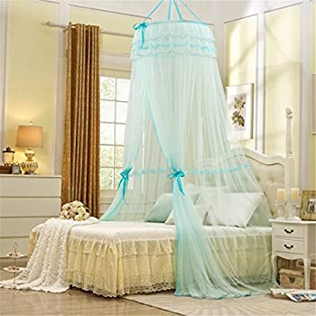 Round Hoop Princess Girl Pastoral Lace Bed Canopy Mosquito Net Fit Crib Twin Full Queen Bed & Amazon.com: Round Hoop Princess Girl Pastoral Lace Bed Canopy ...