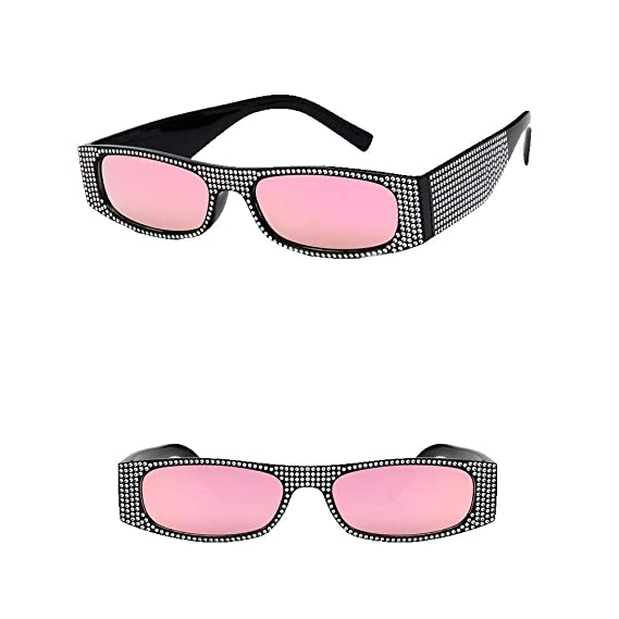 Naturazy 2019 Summer New Square Diamond Sunglasses e Rivet ...