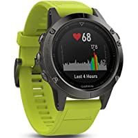 Garmin Fenix 5 Slate Gray w/ Amp Yellow Band GPS Multisport Watch