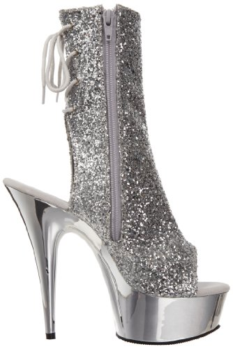 Pleaser mujer Plata Botas Pleaser Botas mujer plata xTPRgEnF