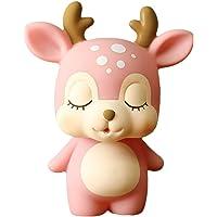 Toyvian Piggy Bank Deer Cartoon Coin Bank Money Holder Saving Pot For Kids