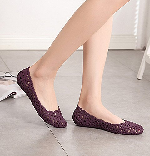 Fuera Flor Manoletinas Vokamara Jalea Hacia Las P Mujer Zapatos de 4gTwExq1x