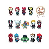 HXDZFX The Avengers Refrigerator Magnets-Marvel Heroes Fridge Magnets- Set of 14 Marvel Characters-Final