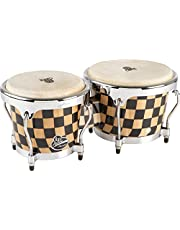 "LP Aspire Accent - Bongos, con diseño de tablero de damas, 6 3/4"" y 8"""