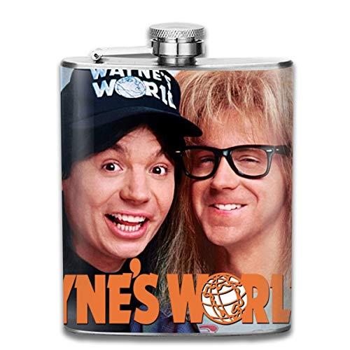 HMHMUND Wayne's World 2 7 Oz Stainless Steel Hip Flask Leakproof Flask, Wearproof Wine Pot Flasks For Liquor For Men Women Groommans Wedding Gift