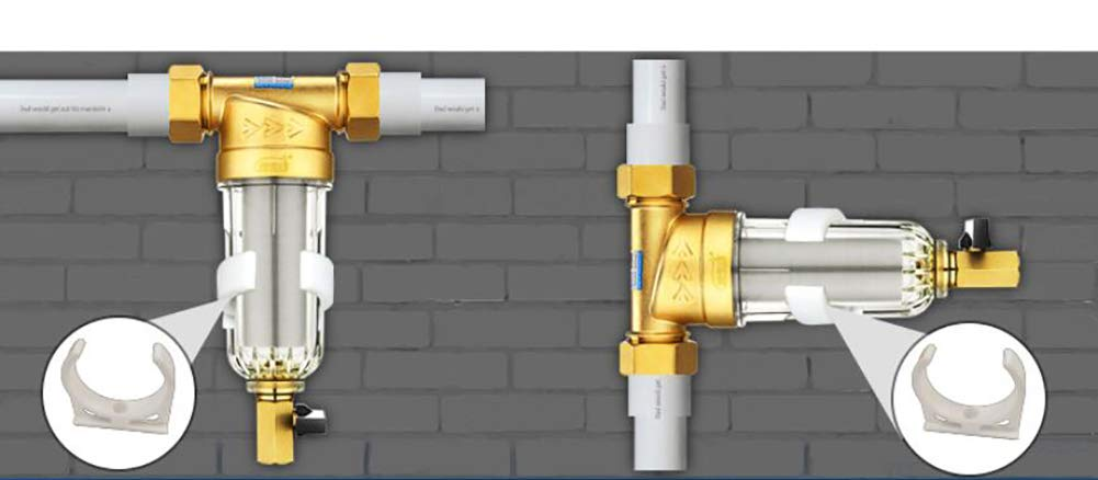Syst/ème de pr/é-filtration de leau//filtre de purification 316-40 microns lavable 1pouce MNPT 3//4 acier inoxydable 304 2.6-4Tons//h Flow,1/´/´inch fit 1//2