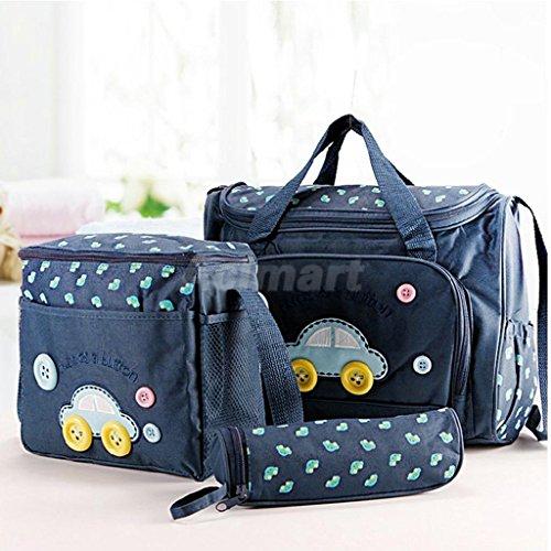 UNAKIM--New 4Pcs Baby Nappy Diaper Changing Bag Mummy Waterproof Handbag Diaper (Biggie Pads)