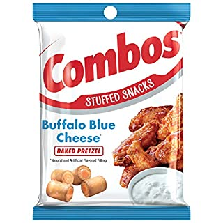 COMBOS Buffalo Blue Cheese Pretzel Baked Snacks 6.3-Ounce Bag (Pack of 6)