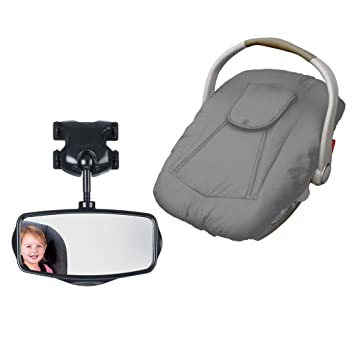 Peachy Jolly Jumper Arctic Sneak A Peek Infant Car Seat Cover With Backseat Mirror Grey Pabps2019 Chair Design Images Pabps2019Com