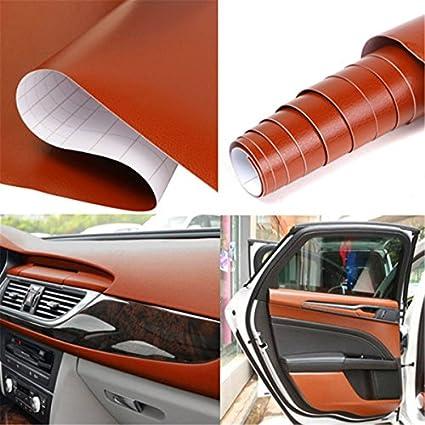 Generic Brown 150 X 30Cm Diy 3D Pvc Texture Car Interior Decoration Film  Vinyl Sticker