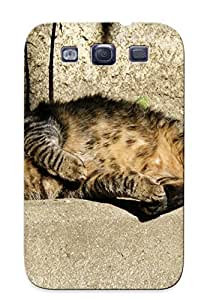 High Quality CNflFxg3861sAUHR Sleeping Cat Tpu Case For Galaxy S3 by mcsharks