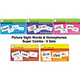 I See, I Spell, I Learn Super Combo Picture Sight Words & Picture Homophones Flashcards