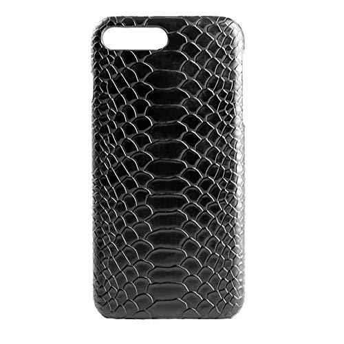 HaFei Crocodile Snake PU Leathe Case for iPhone 7 Plus/iPhone 8 Plus,Snake Skin Texture Cover Case Shockproof Case (Black, for iPhone 7 Plus / 8 Plus)