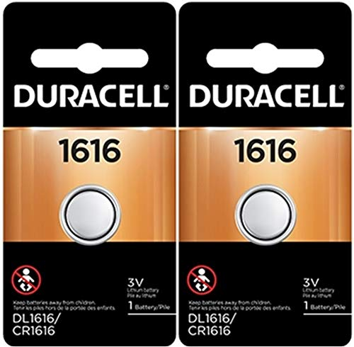 Duracell 1616 DL1616 CR1616 DL1616B2PK Coin Cell Watch Battery 3.0 Volt Lithium,(Pack of 2)