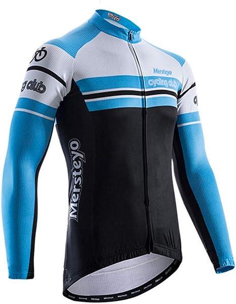 BIKERISK Ciclismo Jersey Hombres Tops de Manga Larga Camisa de Bicicleta Chaqueta de Bicicleta de montaña Camisas de Ciclismo con Bolsillos: Amazon.es: Deportes y aire libre