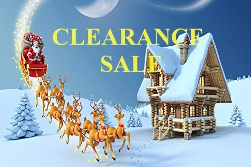 Baocicco Vinyl 7x5ft Merry Christmas Backdrop Winter Snowscape Photography Background Santa Claus Deers Sleigh Wooden House Winter Holiday Backdrop Photo Studio
