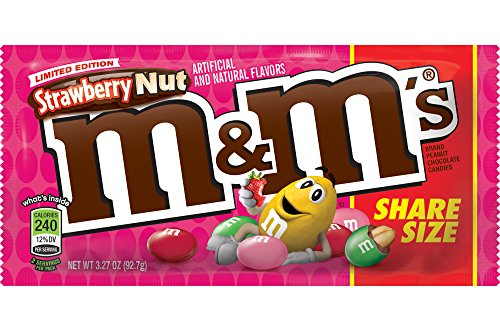 M&M's Limited Edition Strawberry Nut Share Size 3.27oz 24 (Fun Halloween Brownie Recipes)