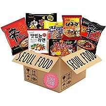 Spicy Korean Ramen Noodles Variety - Care Package - Samyang, Nongshim, Ottogi Noodle Gift Pack (Set of 12) + FREE Recipe eBook Download