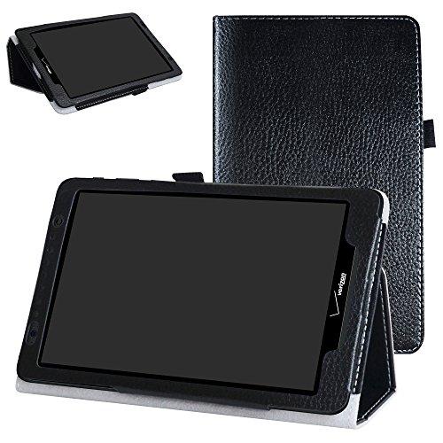 Ellipsis 8 / Ellipsis Kids 2015 Case,Mama Mouth Slim Folio 2-Folding Stand Case Cover for 8 Verizon Ellipsis 8 4G LTE/Ellipsis Kids QTAQZ3KID 2015 Android Tablet,Black