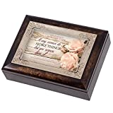 Proverbs 31 Woman Distressed Italian Design Music Box Plays Wind Beneath My Wings