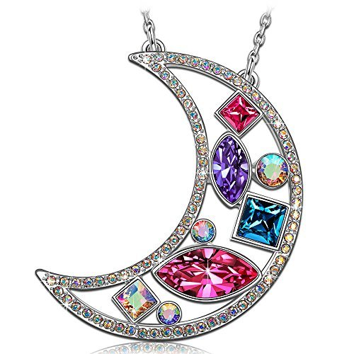 1eaecae84f13 Kate Lynn Women Jewelry for Girl Swarovski Crystals Moon Pendant Necklace  Teen Girl Birthday Gift for