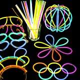 Dolland Glow Sticks, Light up Toys Glow In The Dark Light Sticks Bracelets Mixed Colors Party Favors Supplies (Tube of 100)