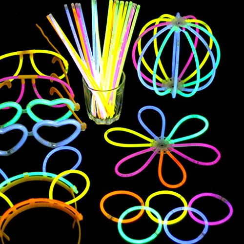 Dolland Glow Sticks, Light up Toys Glow In The Dark Light Sticks Bracelets Mixed Colors Party Favors Supplies (Tube of 100) by Dolland