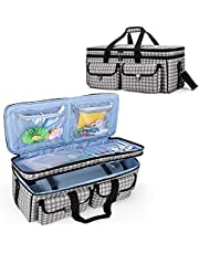 YARWO Double-Layer Carrying Bag Compatible with Cricut Maker, Cricut Explore Air (Air 2), Silhouette Cameo 4, Travel Storage Case for Die-Cut Machine and Craft Accessories, Dots