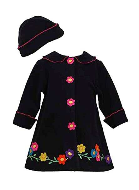 Amazon.com: Bonnie Jean las niñas Flor Fleece Coat ...