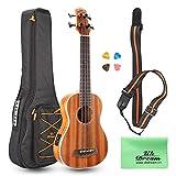 30 inch Electric Acoustic Bass Ukulele Sapele Wood with Gig Bag, Strap, Plectrum