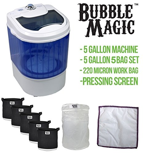 5 Gallon Bubble Magic Washing Machine + Ice Hash Extraction 5 Bags Kit by Bubble Magic