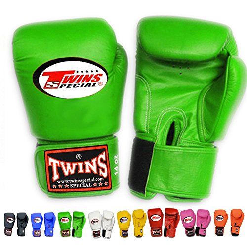 Twins Special Muay Thai Boxing gloves (Green, 10 oz)